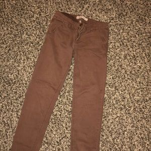 Pants - Cute light brown stretchy pants or cropped pant